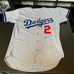 Tommy Lasorda Signé 1998 Jeu D'occasion Los Angeles Dodgers Jersey Jsa Et Miedema Coa