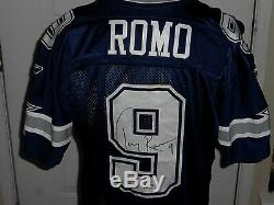 Tony Romo Jeu Utilisé Autographié Dallas Cowboys Jersey Assorti À Redskins Prova