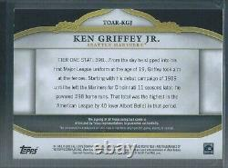 Topps Tier One 2013 Ken Griffey Jr Jeu Utilisé Relic Auto 40/99 Mariners #toar-kgj