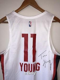 Trae Young Atlanta Hawks Jeu Signé Utilisé Jersey Ligue Estivale League (nba / Mgm)