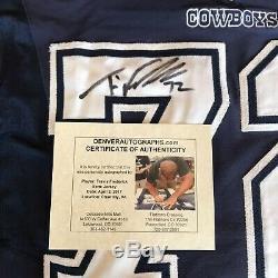 Travis Frederick Signé Autographié Jeu Utilisé Worn Cowboys Jersey Panini Jsa Coa
