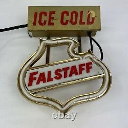 Vintage Années 1950 Falstaff Bière Neon Allumer Bar Signe Game Room Man Cave