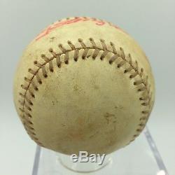 Vintage Casey Stengel Unique Signé Jeu Utilisé National League Baseball Jsa Coa