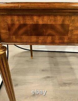 Vintage Signé Maitland Smith Acajou Avec Leather Top Game Table Writing Desk