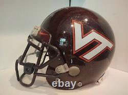 Virginia Tech Hokies Jeu Utilisé Acc Casque #25 Martin Scales Signé Par L. Thomas