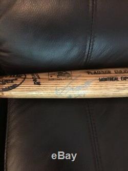 Vladimir Guerrero Jeux Usagés Autographiés Louisville Slugger Bat Expos Psa / Dna