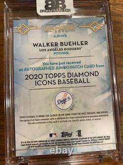 Walker Buehler Topps Diamond Icônes Jeu Utilisé Patch/on-card Auto #19/25 Dodgers