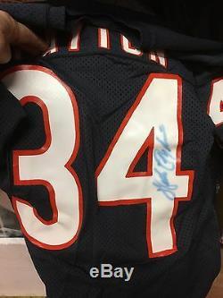 Walter Payton De Chicago Bears Jeu Jersey Anciens Et D'occasion Circa 1984-1986 Psa / Adn Authen