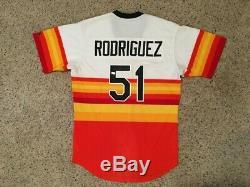 Wandy Rodriguez Houston Astros Tbtc 1986 Jeu Uniforme Arc-en-ciel Signé
