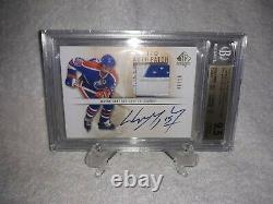 Wayne Gretzky Auto Patch Gem Gem Oilers Jeu Utilisé 6/10 Upper Deck Sp Authentique