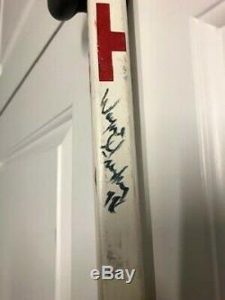 Wayne Gretzky Signature / Jeu D'occasion Edmonton Oilers Bâton De Hockey / LNH