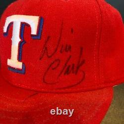 Will Clark A Signé Le Match Utilisé Texas Rangers Casquette Chapeau De Baseball Avec Jsa Coa