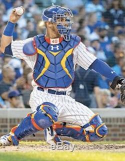 Willson Contreras Cubs Autographed Jeu Utilisé Mlb Debut 1er Hit / H Baseball Psa