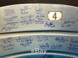 Yankee Stadium Jeu Siège Seat Signé 31 Auto Rivera Berra Torre Ford Steiner