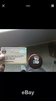 Yankees De New York Gary Sanchez Jeu D'occasion (cracked) Autographié Bat Steiner Coa